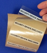 Security Device Enclosed Labels  Roll of 500  Item 114SDE