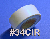 "Clear Round Seals 3/4"" diameter"